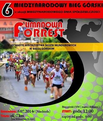 plakat VI Limanowa Forrest 2014
